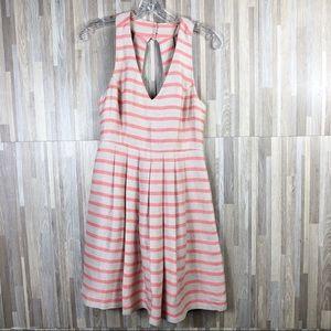 Banana Republic | Stripes Sleeveless V-Neck Dress